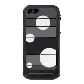 Dots and Stripes in Grey Waterproof Case For iPhone SE/5/5s