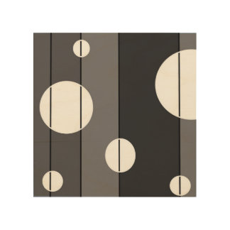 Dots and Stripes in Grey Wood Wall Art