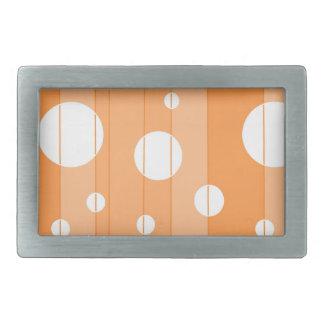 Dots and Stripes in Orange Belt Buckle