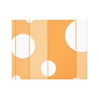 Dots and Stripes in Orange Canvas Print