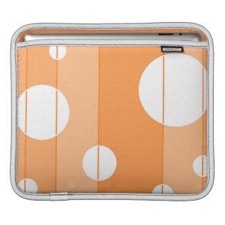 Dots and Stripes in Orange iPad Sleeve