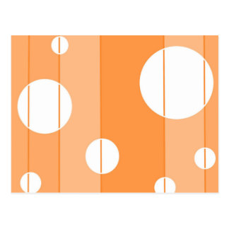 Dots and Stripes in Orange Postcard