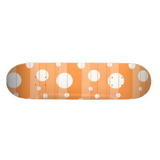 Dots and Stripes in Orange Skateboard Deck