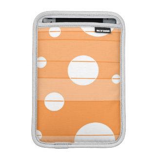 Dots and Stripes in Orange Sleeve For iPad Mini