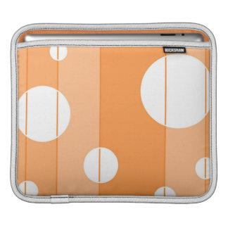 Dots and Stripes in Orange Sleeve For iPads
