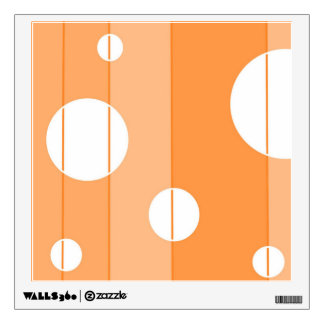 Dots and Stripes in Orange Wall Decal