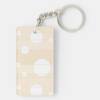 Dots and Stripes in Vanilla Keychain