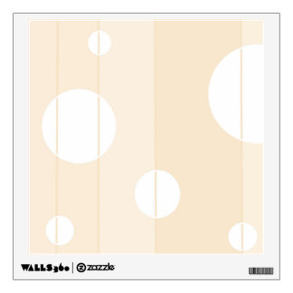 Dots and Stripes in Vanilla Wall Sticker