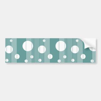 Dots and Stripes in WinterGreen Bumper Sticker