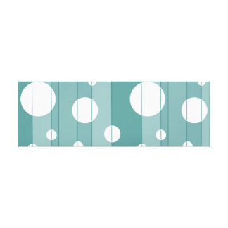 Dots and Stripes in WinterGreen Canvas Print
