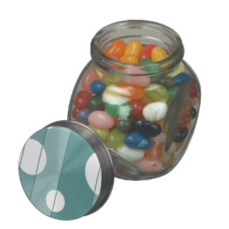 Dots and Stripes in WinterGreen Jelly Belly Candy Jars