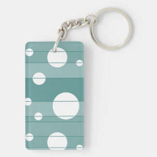Dots and Stripes in WinterGreen Keychain