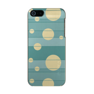 Dots and Stripes in WinterGreen Metallic iPhone SE/5/5s Case