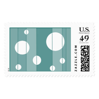 Dots and Stripes in WinterGreen Postage Stamp