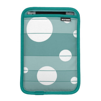Dots and Stripes in WinterGreen Sleeve For iPad Mini