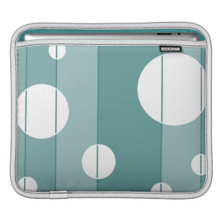 Dots and Stripes in WinterGreen Sleeves For iPads