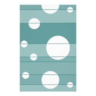 Dots and Stripes in WinterGreen Stationery Paper