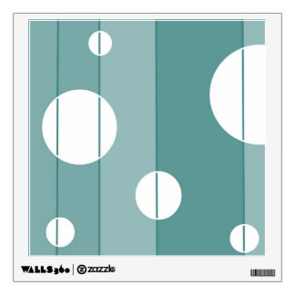 Dots and Stripes in WinterGreen Wall Sticker