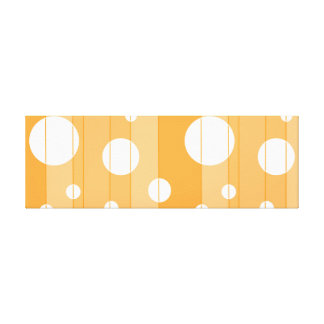 Dots and Stripes in YellowOrange Canvas Print