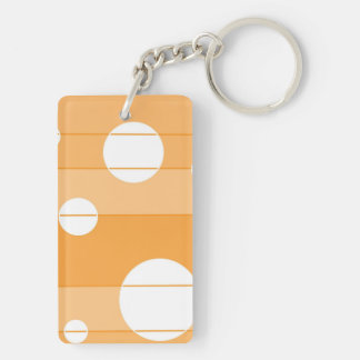 Dots and Stripes in YellowOrange Keychain