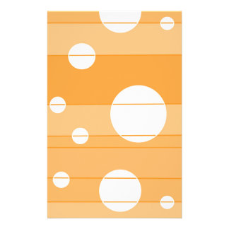 Dots and Stripes in YellowOrange Stationery