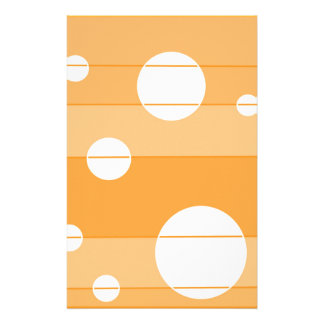 Dots and Stripes in YellowOrange Customized Stationery