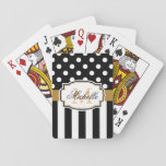 "Dots and Stripes Playing Cards<br><div class=""desc"">Dots and Stripes</div>"