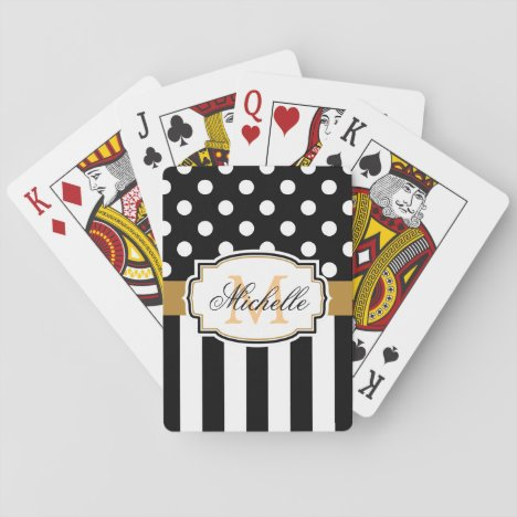 Dots and Stripes Playing Cards