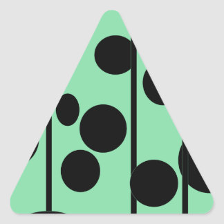 Dots and stripes triangle sticker