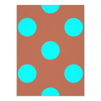 DOTS - AQUA ~ 6.5X8.75 PAPER INVITATION CARD