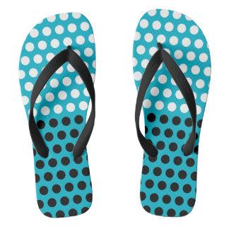 Dots black & white pattern + your back & idea flip flops