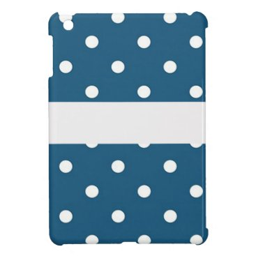 Professional Business dots, blue and white, strip, elegant iPad mini cases