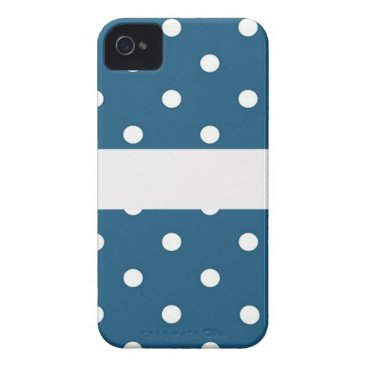 Professional Business dots, blue and white, strip, elegant iPhone 4 case