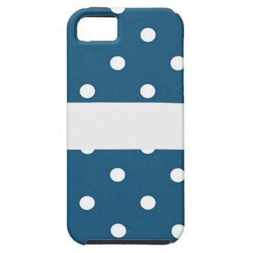 Professional Business dots, blue and white, strip, elegant iPhone SE/5/5s case