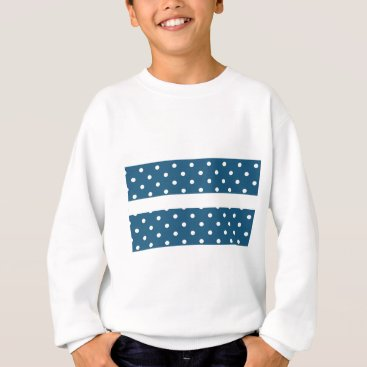 Professional Business dots, blue and white, strip, elegant sweatshirt