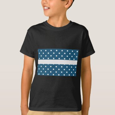 Professional Business dots, blue and white, strip, elegant T-Shirt