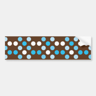 Dots - Blue with Brown Background Bumper Sticker