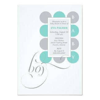 Dots Boy Custom Baby Shower Invitation