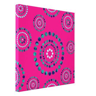Dots Circle Power Flowers + your backgr. Canvas Print