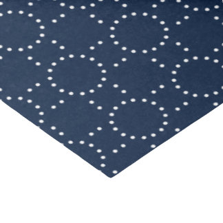 "Dots Circles Dark Denim Blue Pattern Tissue Paper 15"" X 20"" Tissue Paper"