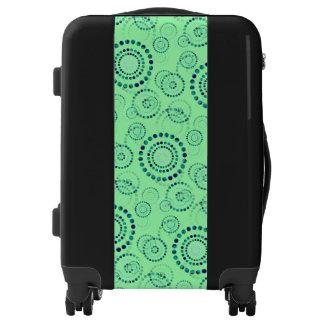 Dots / Circles Power Flower seamless pattern Luggage