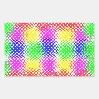 Dots Colorful Rectangular Sticker