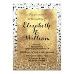 Dots confetti and faux gold design card