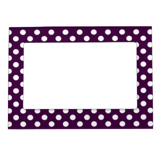 Dots- Dark Purple Magnetic Picture Frame