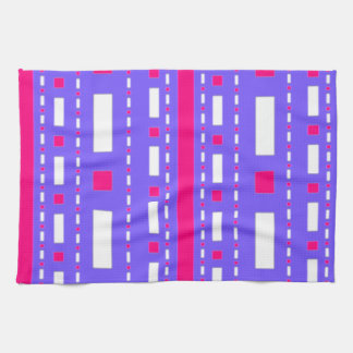 Dots Dash in Magenta Lilac White Towels