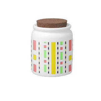 Dots Dash in Yellow Mauve Pastels Candy Jar