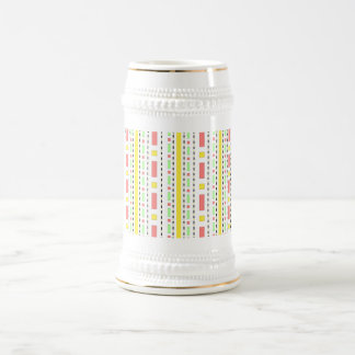 Dots Dash in Yellow Mauve Pastels 18 Oz Beer Stein