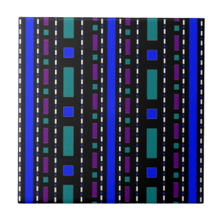 Dots & Dashes in Blue & Purple Tile