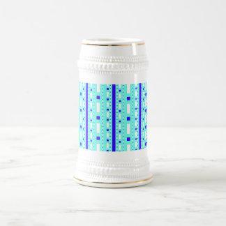 Dots & Dashes in Blue & White Beer Stein