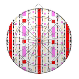 Dots & Dashes in Pink, Red & Cream Dartboard